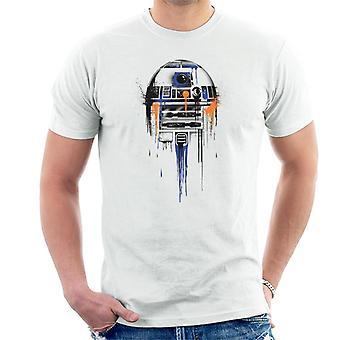 Star Wars R2D2 Paint Art miesten ' s T-paita