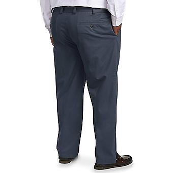 Essentials Heren's Big & Tall Relaxed-fit Wrinkle-Resistant Flat-Front Chino Pant fit van DXL, Navy 48W x 32L