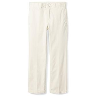 Essentials Big Boys' Straight Leg Flat Front Uniform Chino Pant, Light...