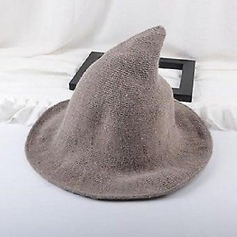 Moderni Halloween Woolen Witch Hat - Muodikas Lampaanvilla Halloween Party,