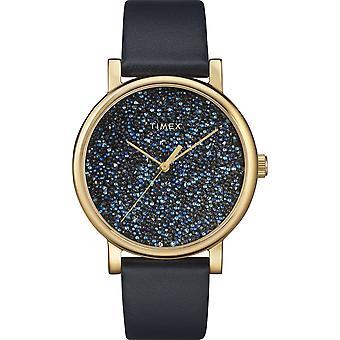 TW2R98100, City Crystal Timex Style Ladies Watch / Bleu