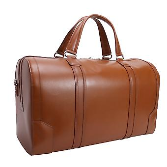 """88194, Kinzie 20"""" Carry-All Leather Duffel - Brown"""