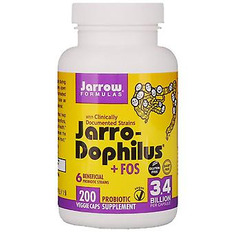 Jarrow Formulas, Jarro-Dophilus + FOS, 3.4 Billion, 200 Capsules (Ice)