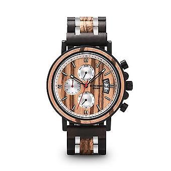 Multifunctioneel massief houten horloge