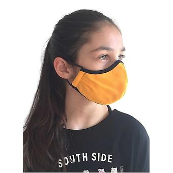 Yellow Mask For Children, Washable Fabric Face Mask