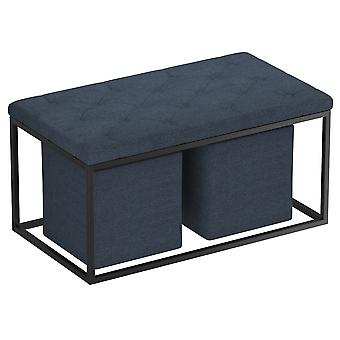 Esme 3Pc Cocktail Ottoman - Light Grey