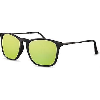 النظارات الشمسية Unisex الرجال المسافرين مات الأسود / الأصفر (CWI2439)