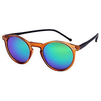 Sunglasses Unisex light brown with mirror lens (AZ-16-104)