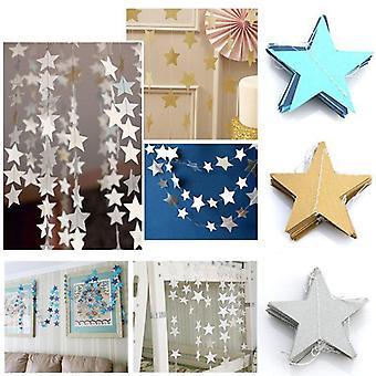 Bannière de guirlandes d'étoile de papier pour la corde d'anniversaire et la partie de mariage de chaîne
