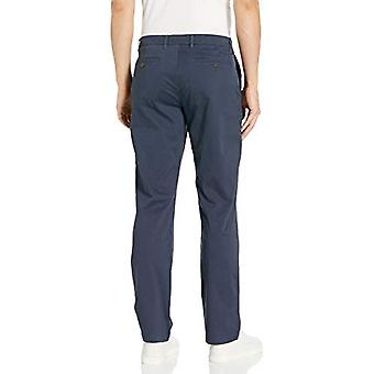 Brand - Goodthreads Men's Straight-Fit Washed Comfort Stretch Chino Pant, Navy 36W x 31L