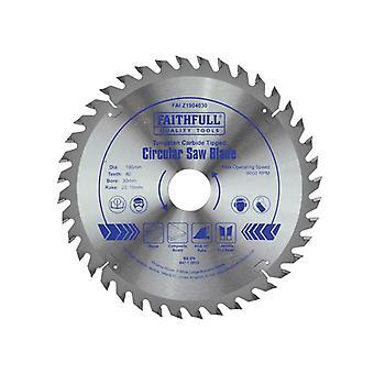 Faithfull Kreissäge 190 x 16/20/30mm x 40T Feinkreuz geschnitten FAIZ1904030