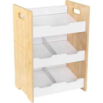 Kidkraft Angled Bin Storage Unit Natural White