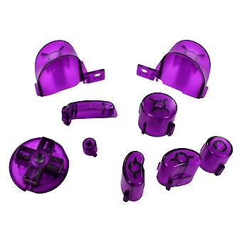 Clear purple replacement button set mod kit for nintendo gamecube controllers | zedlabz