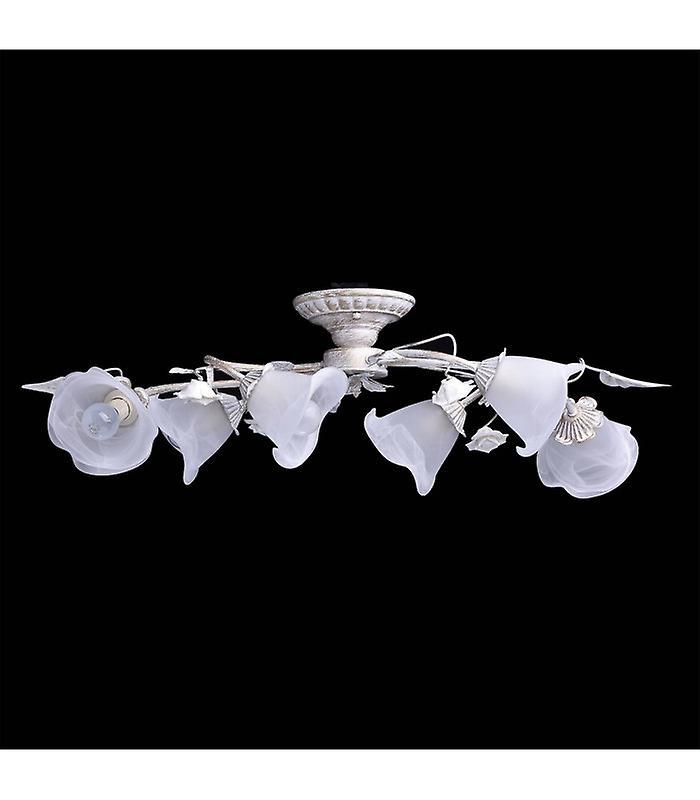 Flora White Ceiling Light 6 Bulbs 25 Cm