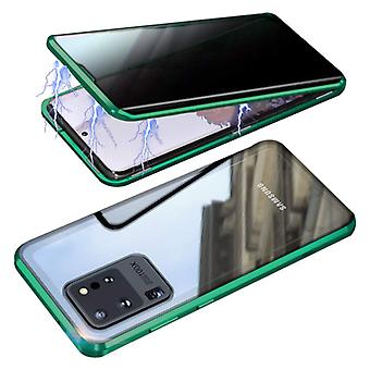 דברים מאושרים® סמסונג גלקסי S20 אולטרה מגנטי 360 ° מגן עם זכוכית מחוסמת - כיסוי גוף מלא מגן + מגן מסך ירוק