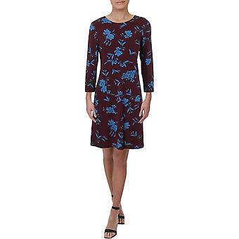Lauren by Ralph Lauren | Abbi Almonte Floral 3/4 Sleeve Day Dress
