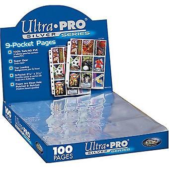 الترا برو الفضة سلسلة 9 جيب بطاقات التداول صفحات مربع 100