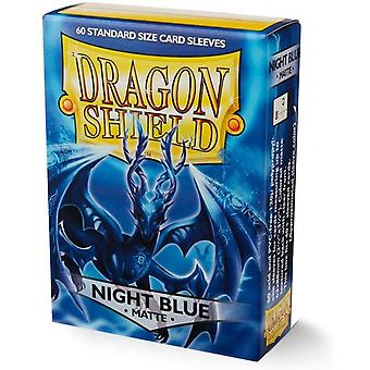 Dragon Shield Matte Night Blue 60 Count In Box (Pack Of 10)