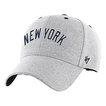 47 Brand New York Yankees Storm Cloud Script MVP Cap - Grey
