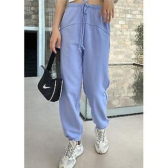 Spodnie z wysokim stanem oversized Jogger Niebieski