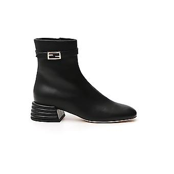 Fendi 8t8059na7f0qa1 Women's Black Leather Ankle Boots