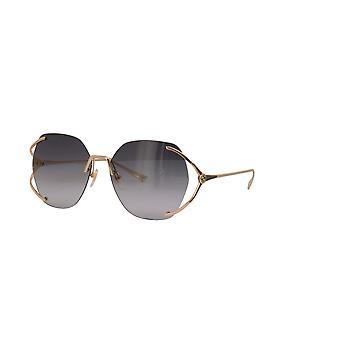غوتشي GG0651S 002 نظارات ذهبية / رمادية التدرج