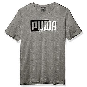 プーマフロックグラフィックメンズカジュアルファッションスポーツTシャツティーグレー
