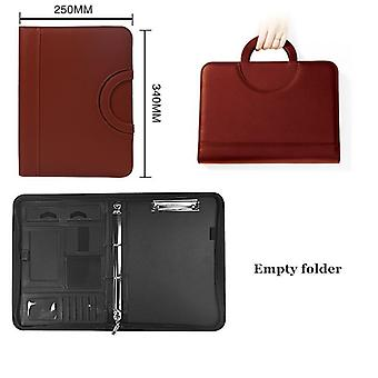 A4 Binder Document File Folder Ring Cabinet Case Manager - Padfolio Business