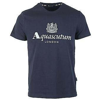 Aquascutum Griffin Logo Marinblå T-shirt