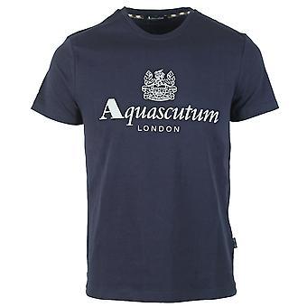 Koszulka z logo Aquascutum Griffin Navy