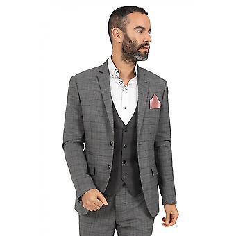Jenson Samuel York Grey Check Suit Blazer