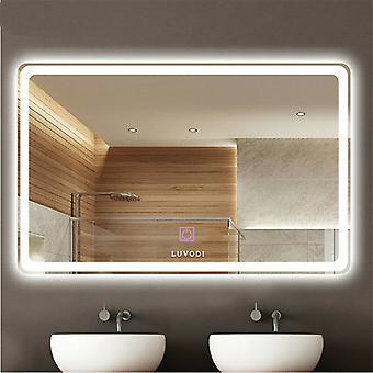 700x500mm Modern Led Light Touch Switch Illuminated Bathroom Mirror Demister