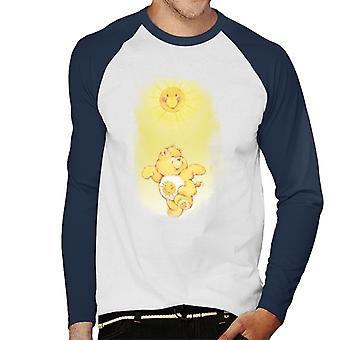 Pflege Bären Funshine Bär tanzen in der Sonne Männer's Baseball langärmelige T-Shirt