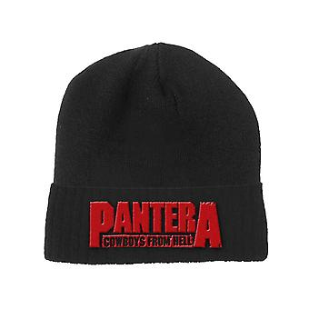 Pantera Beanie Hat Cowboys from Hell Band Logo new Official Black Unisex