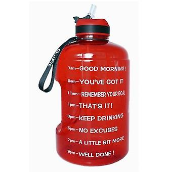 1 Gallon Water Bottle With Straw Clear Plastic Drinking Bottles Big Gym Jug Cup