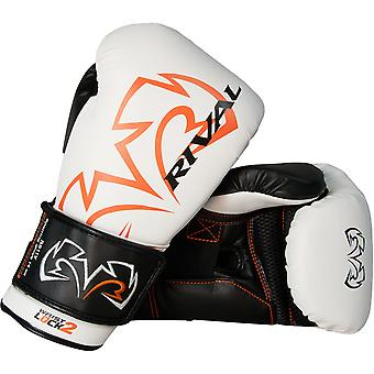 Rival Boxing Evolution Hook and Loop Sparring Gloves - White