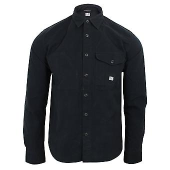 C.p. company men's black nylon peach overshirt
