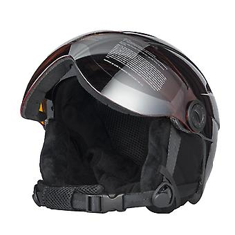 Ski Helmet With Goggle Half-covered Skiing Helmet Goggles Outdoor Sports