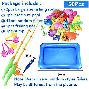 Fishing Toy Set Suit, Magnetic Play Water Baby, Fish Square .