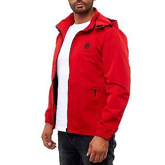 Hombres Basic Transition rain Bomber Chaqueta Zip College Blouson luz con capucha