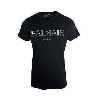 Balmain Paris Reflective Logo Black T-Shirt