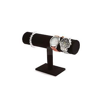 Tier 1 Schmuck Armband Kettenuhr Display / Standplatz Halter T-bar - Schwarz