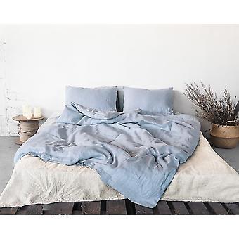 Skandinavischen Look pure Leinen Bettwäsche Set