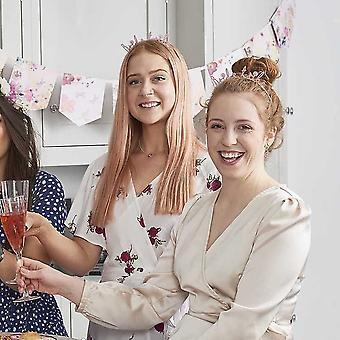 Blossom Pink Bride Tiara Headband, Hen Party Accessories, Bride Tribe