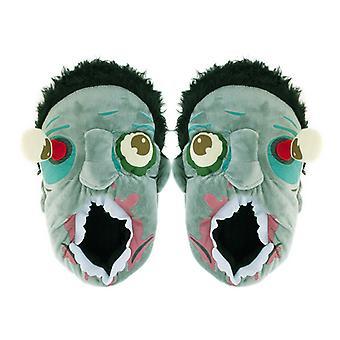 Plush Zombie Slippers - Indoor Floor Shoes and Halloween Costume