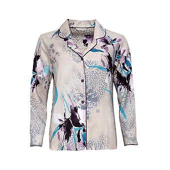 Cyberjammies Gabriella 4741 Women's Beige Animal Print Cotton Pyjama Top
