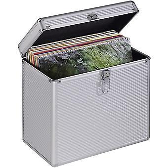 הומה 50 תקליטי ויניל LP מקרה אלומיניום נראה כסף