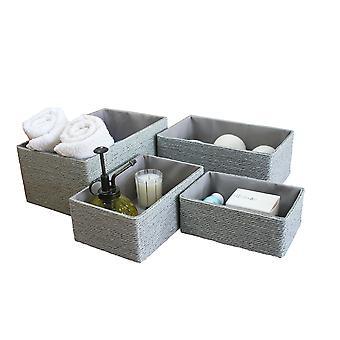 La jol√≠e Muse Aufbewahrungkörbe Set 4 - stapelbare gewebte Korb Papier Seil behälter, Aufbewahrungsboxen für machen