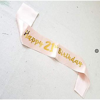 Trvancat 21st birthday sash birthday gifts birthday party accessories (21) 21
