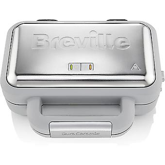 Breville VST072 DuraCeramic Waffle Maker, with Deep-Fill Removable Plates, White
